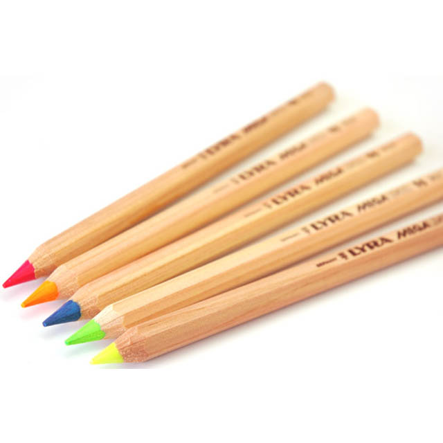 Lyra Colour Giants Hexagon Shaped Pencils - Blue