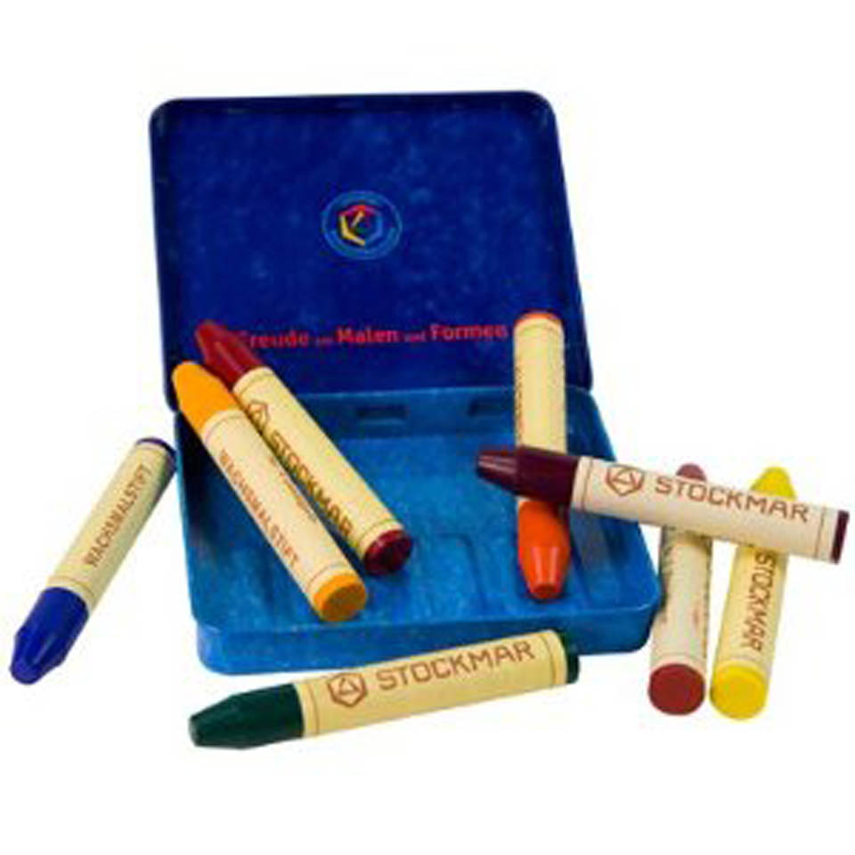 Stockmar Beeswax Crayons - 8 Sticks