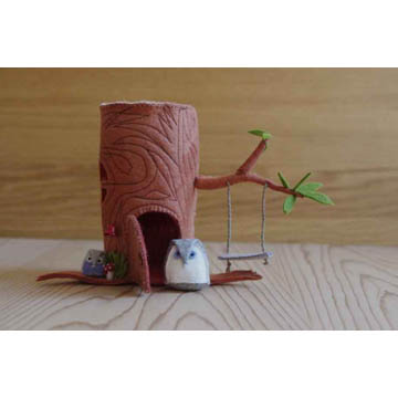 NEW Stump House and Owl Pattern