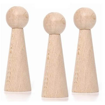 9cmWooden Doll Bases - Pack of 5