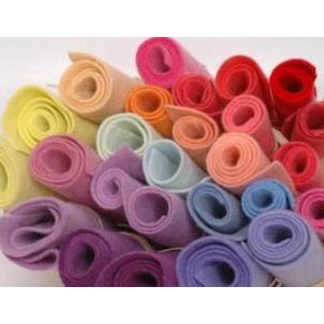 Hand Dyed 100% Wool Felt A Grade - 20 x 45cm, pack of 6