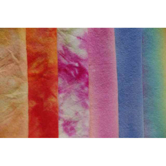 Hand Dyed Rainbow 100% Pure New Wool Felt - 40 x 45cm