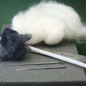 Foam for Dry Felting