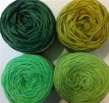 Hand-dyed Wool - 16ply, 250g skeins