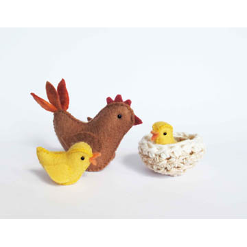 Chicken Family Sewing Pattern