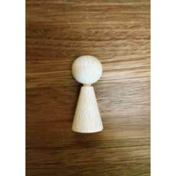Wooden Doll Base Baby 4cm Tall