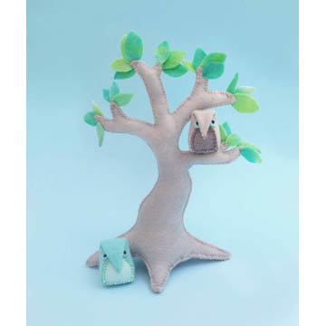 Felt Tree & Mini Owls Sewing Pattern
