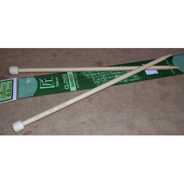 Bamboo Knitting Needles - 33cm long, 3.00-3.75mm