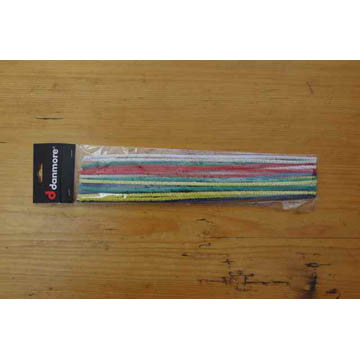Long Pipe Cleaners multi coloured- pk 25, 30cm long