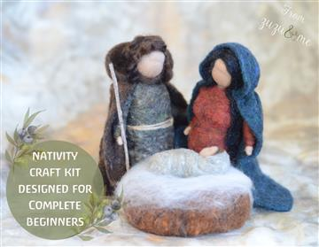 Nativity needle felting craft kit by Zuzu and Me