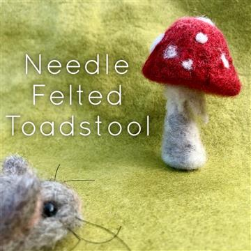 Needle Felted Toadstool Workshop