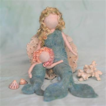 Needle Felting Mermaid Kit by Zuzu and Me