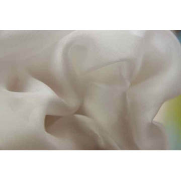 White 100% Pure Silk - Pongee silk