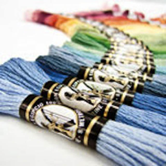 Cotton Embroidery Threads - 10 Pack Madeira or Egyptian - Colour Packs: Blues/Turquoise/Aqua