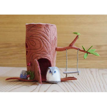 Stump House & Mini Owl Sewing Pattern