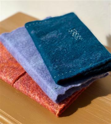 Wet Felted Notebook
