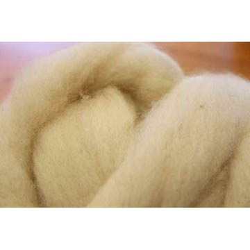 Perendale Wool Tops (White) - 500g